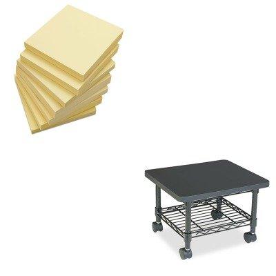 (KITSAF5206BLUNV35668 - Value Kit - Safco Underdesk Printer/Fax Stand (SAF5206BL) and Universal Standard Self-Stick Notes (UNV35668))