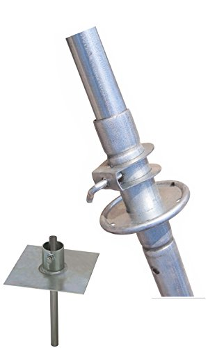 Rohn 9H50 34' Push Up Pole / Telescoping Mast Bundle with Easy Up EZ 32A Base Mount by ROHN