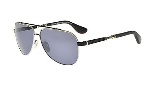 d73c0d126342 Amazon.com  Chrome Hearts JACKADDICT Silver Black Matte Grey 62 13 132 Men  Sunglasses  Watches