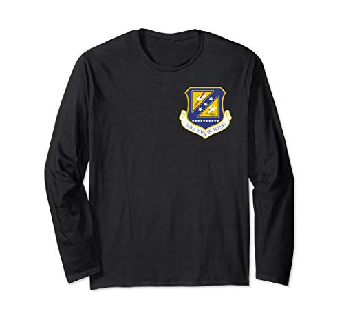 (310th Space Wing Air Reserve USAF Schriever Patch Long Sleeve T-Shirt)