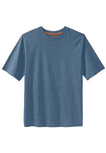 KingSize Men's Big & Tall Heavyweight Crewneck Cotton Tee Shirt, Slate Blue