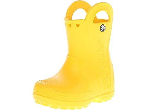 Crocs Kids Handle It Rain Boot Yellow Size UK 13 EU 30/31 (Toddler Croc Rainboots)