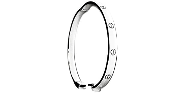 OHVAL Jewelry 18 K Gold Plated Love Bracelet for Women and Men with Gift Box and Beautiful Message Included Crystal CZ Bangle Rose Gold Silver Screw Cuff Bracelet 17-19cm
