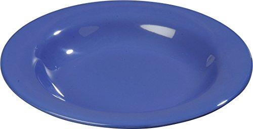 Blue Rimmed Cereal Bowl - Carlisle 3303214 Sierrus Melamine Rimmed Bowls, 15-oz., Ocean Blue (Set of 24)