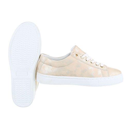 Ital-Design - Zapatillas de casa Mujer Gold FC-S31