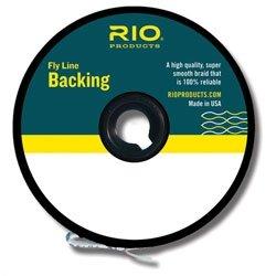 Dacron Fly Line Backing (RIO Fly Fishing Backing Dacron 20Lb 100 yd. Fly Tying Equipment, Orange)