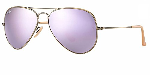 Ray Ban RB3025 167/4K 55M Demiglos Brushed Bronze/Lilac Mirror - 4 Ray Ban