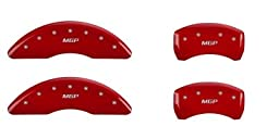 MGP Caliper Covers 23203SMGPRD \'MGP\' Engraved Caliper Cover with Red Powder Coat Finish and Silver Characters, (Set of 4)