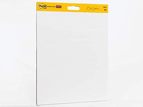 4 Pads 20 Sheets//Pad 20x23 Inches Post-it Super Sticky Portable Tabletop Easel Pad
