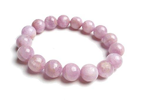 - 8mm Pink Kunzite Bracelet, Kunzite Beads Bracelet Womens, Pink Kunzite Jewelry Bracelet, Lilac Gemstone Bracelet,Pink Stretch Bracelet Gift