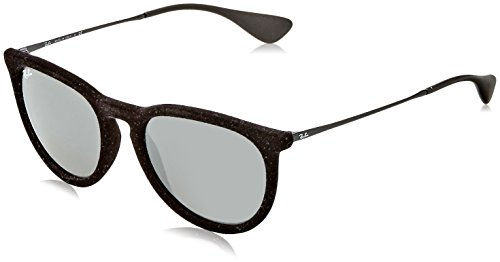 Ray Ban Unisex RB4171 60756G Erika Sunglasses Blk Velvet/Grey - Black Ban Ray Erika