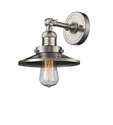 Innovations Lighting 203-SN-M2 1 Light Sconce, Brushed Satin Nickel from Innovations Lighting