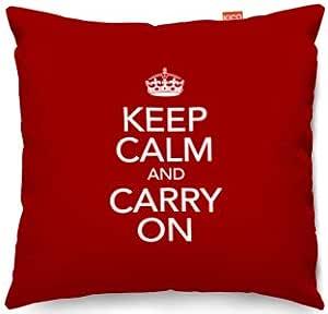 Keep Calm And Carry On casestm cojín, algodón, Gris