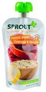 Sprout Organic Baby Food Peach, Berry, Oatmeal & Quinoa 4 OZ (Pack of 20) by Sprout
