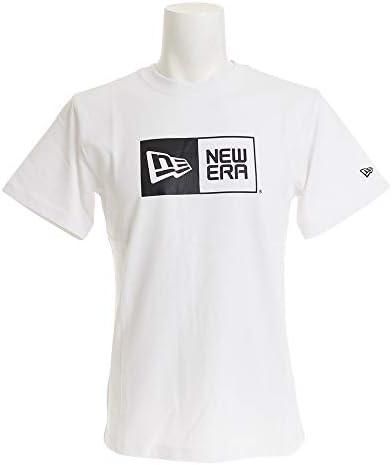 メンズ コットン Tシャツ ボックスロゴ ホワイト×ブラック 11783006