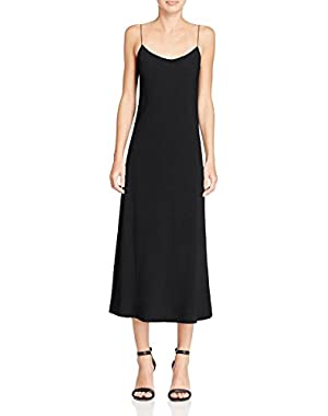 Womens Rosina Crepe Solid Slip Dress