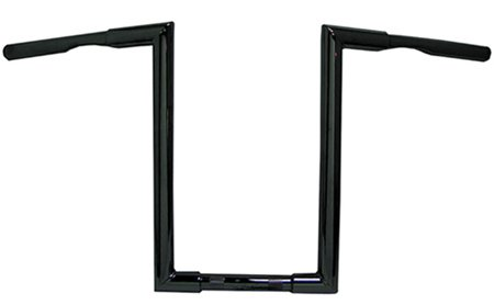Highnoon handlebar,black 30''wide,16''rise,5.25''pullback 1.25''od,drilled & dimpled-by-V-FACTOR