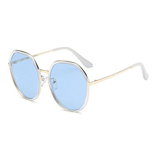 Bicolores de De Lunettes Protection Cadre Partie Bleu Vacances De Soleil Couleur de Bleu Lentille Lentille Classique pêche Unisexe Sunbobo Réfléchissante xZFnwZq