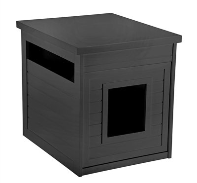 Pet Hup Hup Arena Kitty Litter Box and Accent Table Pet House and Litter Box Comfort Washroom with Night Stand, (Merry Pet House)