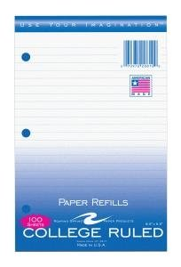 Bulk College Ruled Filler Paper 8.5''x5.5'', 100 Sheets: Roaring Spring 20810 (48 Filler Paper Packs) by Roaring Spring (Image #1)
