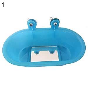 Fattigger - Jaula de baño Colgante para pájaros y periquitos, con ...