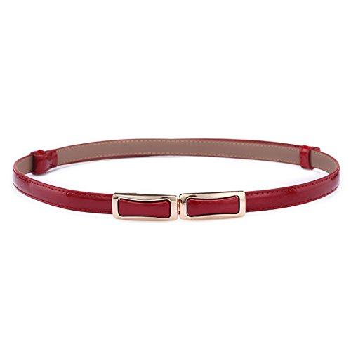 ZHANGYONG Mme cuir vernis, ceintures en cuir couleur bonbon sauvage loisirs fine  ceinture décorée 1bd3ed8b2f2