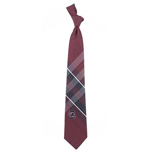 (South Carolina Grid Neck Tie with NCAA College Sports Team Logo)