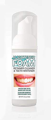 Alightener Foam – Whiten your teeth while wearing a mouth tray or a clear dental aligners – Mouth Trays Included