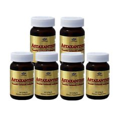 6 x Astaxanthin 10 mg 60 SGels Powerful Cartenoid Antioxidant, FRESH , New Item Good Product !!