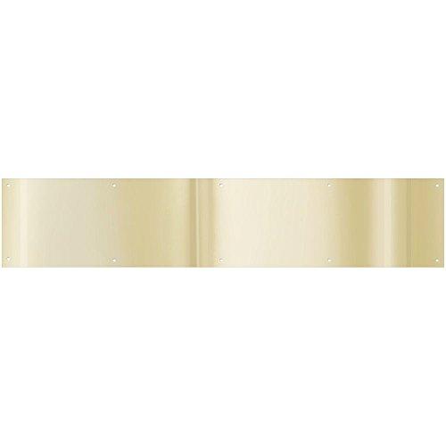National Hardware N244-053 V1996 Kickplate in Brass