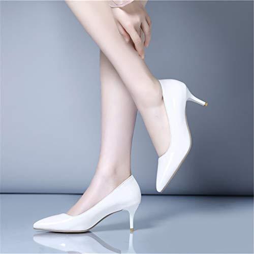 Talon de Mariage Femmes Chaussures Chaussures Femme Blanc Escarpins Talons Chaussures Dames Escarpins Hauts waqqIx4z