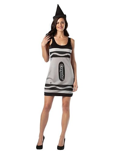 Crayola Logo For Costume (Crayola Dress Adult Costume Color: Black)