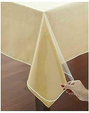 Tafelkleed bescherming PVC transparant (rond 140 cm)