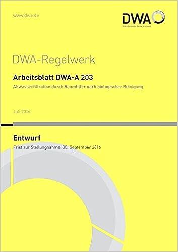 Arbeitsblatt DWA-A 203 Abwasserfiltration duch Raumfilter nach ...