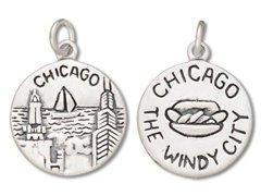 Sterling Silver Chicago Windy City Illinois State - Chicago Il State St