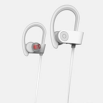 Auriculares Bluetooth, Goodsmiley inalámbricos para de Deporte para iPhone, iPad, Samsung, Huawei, teléfonos Android, Tablets, Laptops, PC, Bluetooth Smart TV (Blanco): Amazon.es: Electrónica