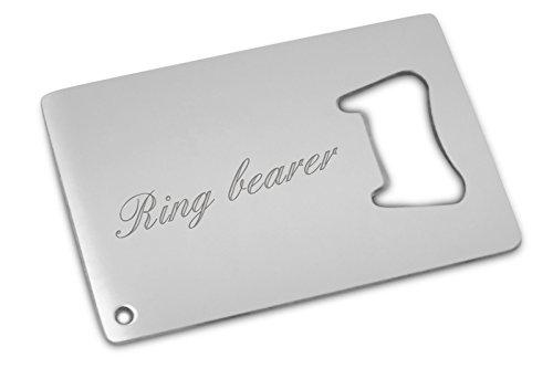 ring bearer bottle opener card