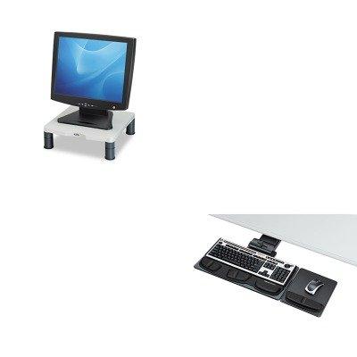 KITFEL8036101FEL91712 - Value Kit - Fellowes Professional Executive Adjustable Keyboard Tray (FEL8036101) and Fellowes Height-Adjust Standard Monitor Riser (FEL91712) - Executive Adjustable Keyboard