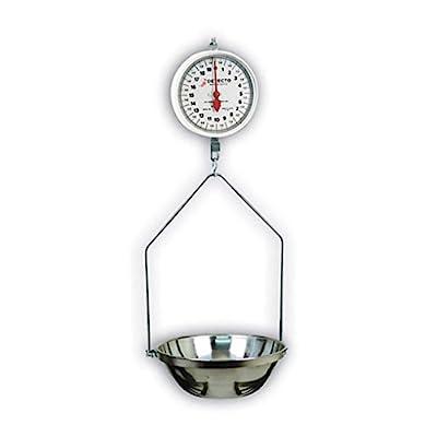 Detecto MCS-20DF Hanging Dial Scale, 20 lb. Capacity, Fish Pan, Double Dial