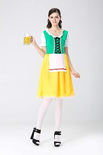 Halloween Costumes Halloween Costumes Oktoberfest Beer Costumes Maid Maid Wear Bavarian Traditional Costumes, Style 4, XL]()