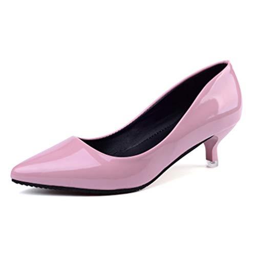 Talons Cuir Mariée En Chaussures Robe Escarpins rose De 4cm Aiguilles Cour PUIq8AAd