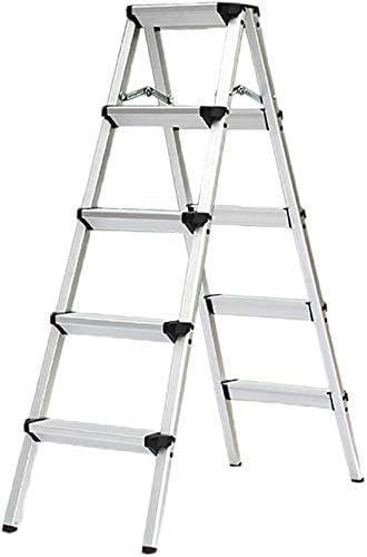 Fácil y multifunción Conveniente Taburete plegable, escalera Taburete Escalera para el hogar de 5 pasos Espesar