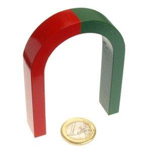 Magnet-shop Aimant Forme fer à cheval 80 x 60 x 15 mm Rouge/vert AlNiCo HEM-80x60x15-A