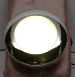 MARINE BOAT ROUND HIGH POWER LED LIGHT CABIN & EXTERIOR STAINLESS STEEL RIM by Pactrade Marine