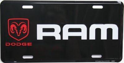 Dodge Ram Mopar Truck Logo Black Tag License Plate Pick Up