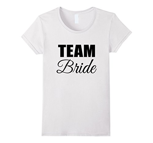 Womens BRIDESMAIDS BRIDE T-SHIRT [FUNNY BACHELORETTE PARTY OUTFIT] Large White