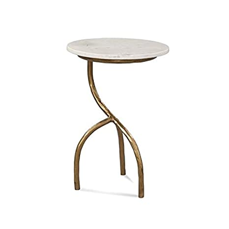 Amazon.com: Hand Hammered Iron Base End Table - End Table ...