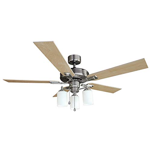 Design House 556621 Aubrey 3-Light Ceiling Fan 52