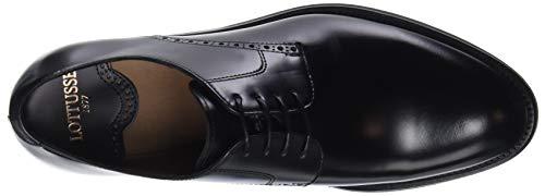 Negro Zapatos Hombre de Lottusse para Oxford Negro Jocker L6921 Cordones 05WW7q