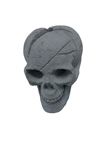 Cheap hmleaf HMB Fireproof Imitated Human Ceramic Skull Gas Log for All Types of Gas Inserts Ventless&Vent Free Ethanol Electric Fireplaces Campfire Halloween Decor BBQ Black Color Black Friday & Cyber Monday 2019